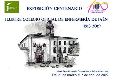 cartel exposicion centenario colegio enfermeria jaen
