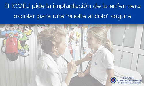 enfermera escolar vuelta al cole