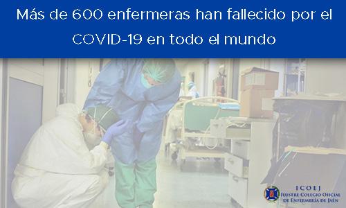 más de 600 enfermeras fallecidas