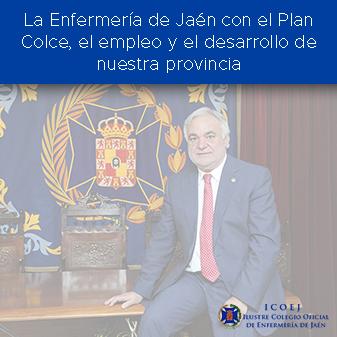 La Enfermería de Jaén con el Plan Colce, el empleo y el desarrollo de nuestra provincia